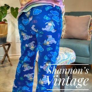 Disney Eeyore sz large fleece pants A44